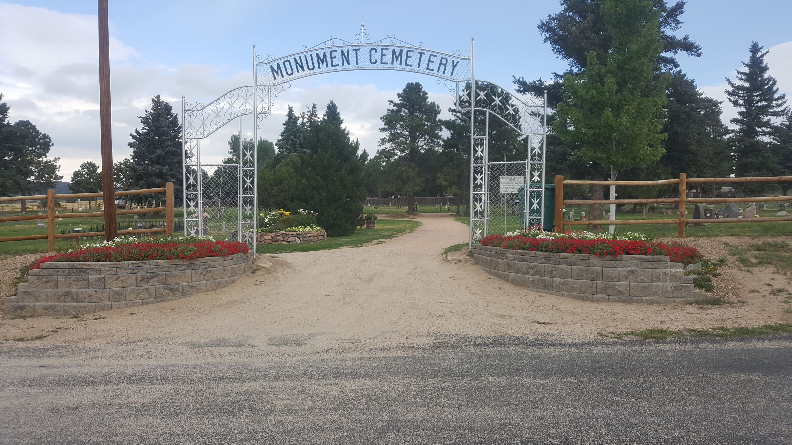 Updated Cemetery Entrance - 2017 projects