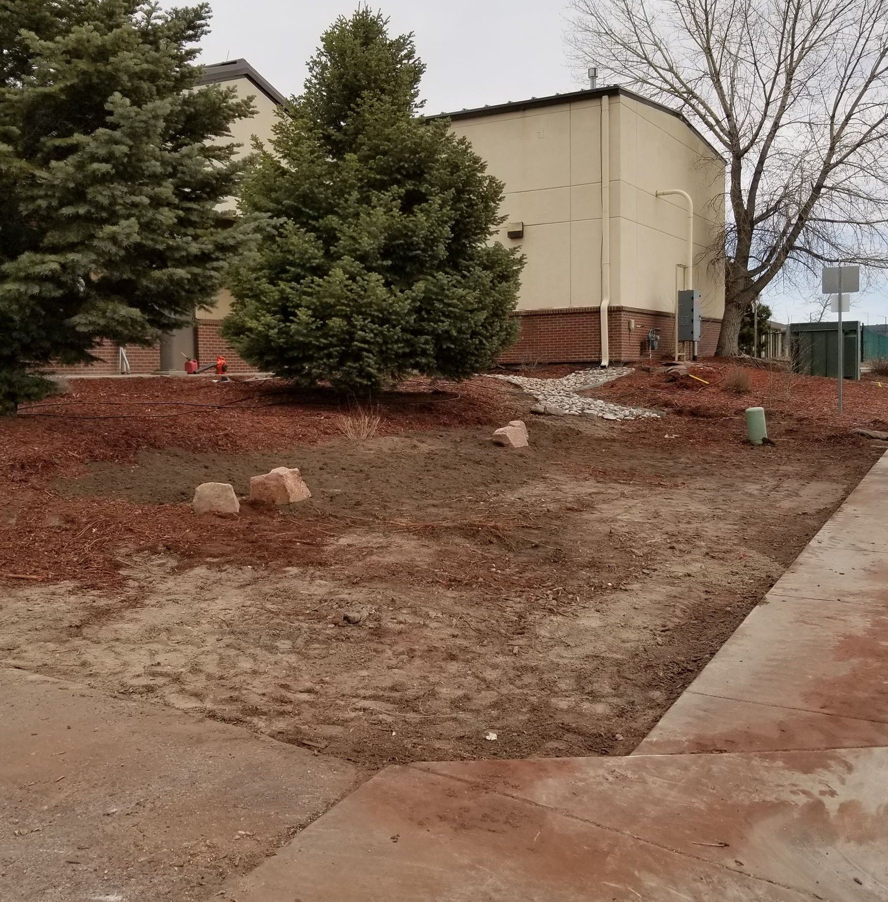 Updating Water Department Landscaping