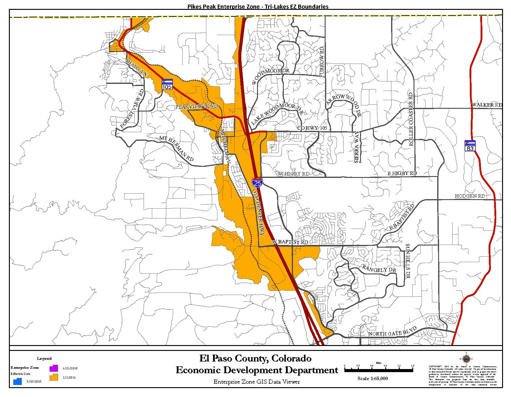 Tri-Lakes Enterprise Zone Map